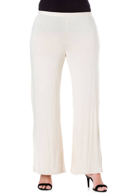 Plus Size Comfortable Solid Color Palazzo Pants
