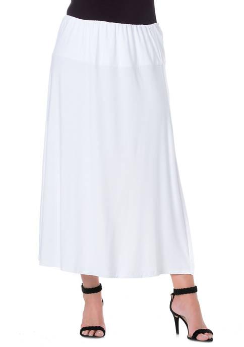 24seven Comfort Apparel Womens Elastic Waist Solid Color