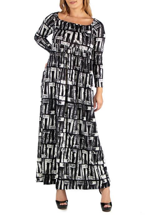 24seven Comfort Apparel Plus Size Black and White