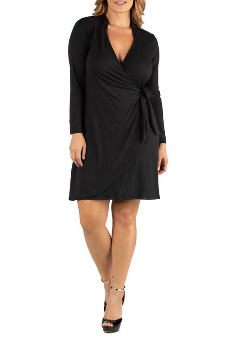 24seven Comfort Apparel Plus Size Knee Length Long