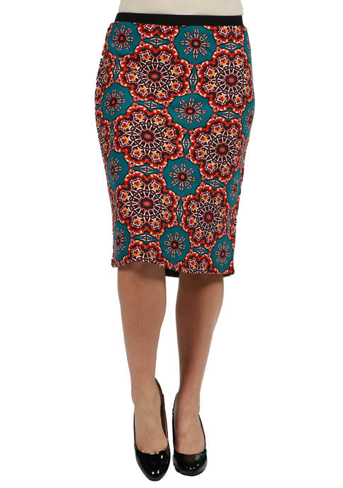 24seven Comfort Apparel Plus Size Teal and Orange