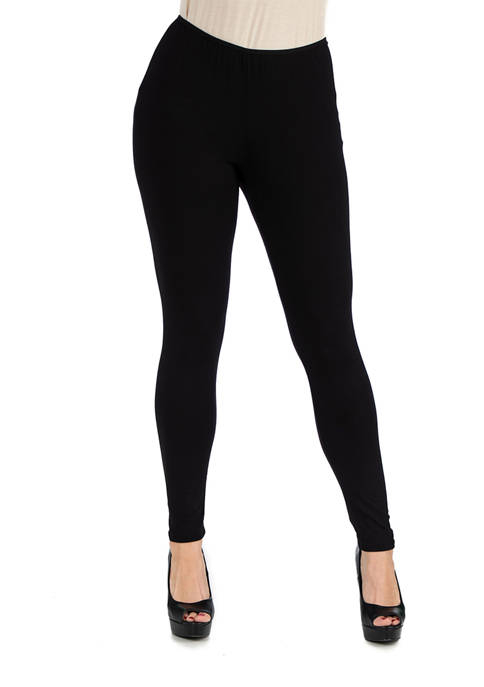 24seven Comfort Apparel Womens Stretch Ankle Length Leggings