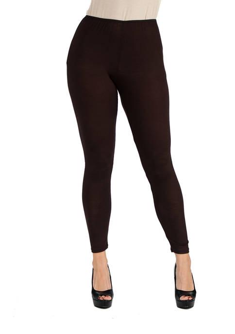 24seven Comfort Apparel Womens Stretch Ankle Length Leggings