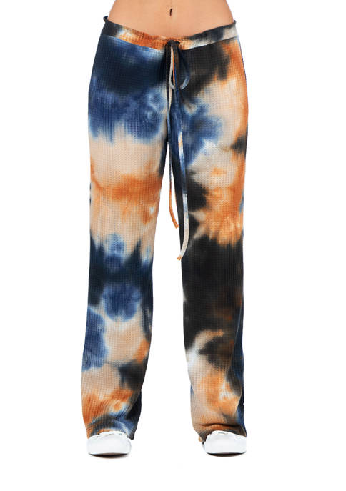 24seven Comfort Apparel Womens Waffle Fabric Tie Dye