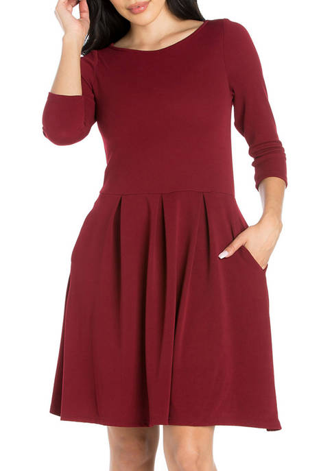 24seven Comfort Apparel Womens Perfect Fit and Flare