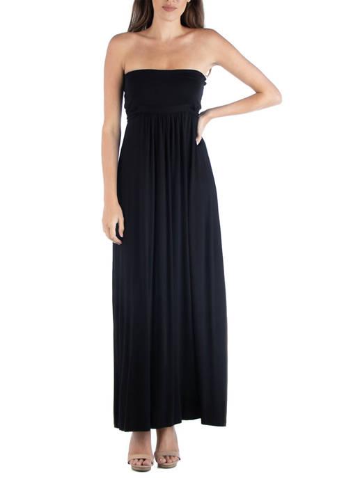 24seven Comfort Apparel Womens Sleeveless Maxi Dress