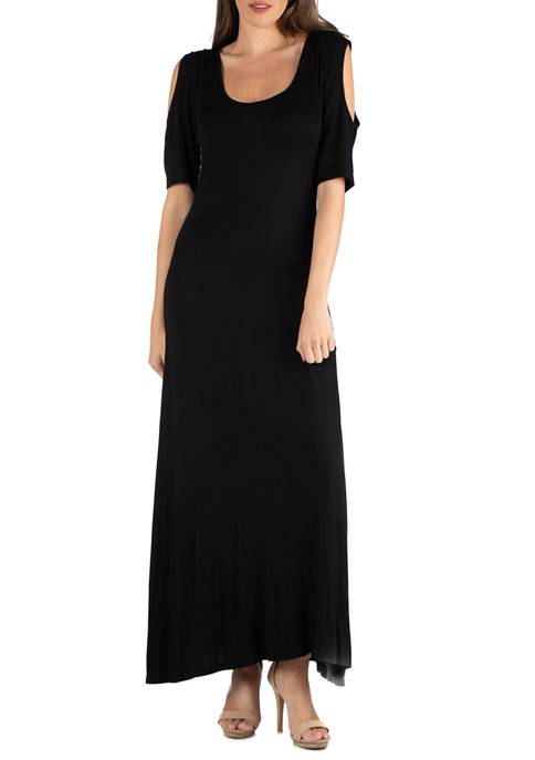 Womens Open Shoulder Maxi Dress
