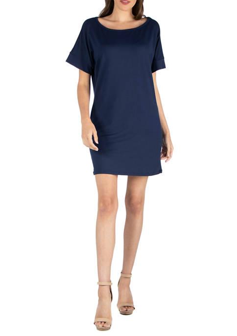 24seven Comfort Apparel Womens Loose Fit T-Shirt Dress