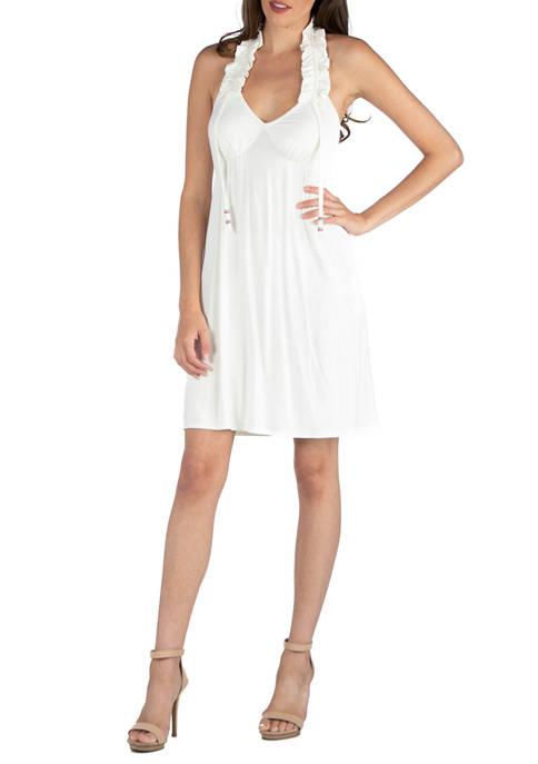 Womens Halter Knee Length Dress