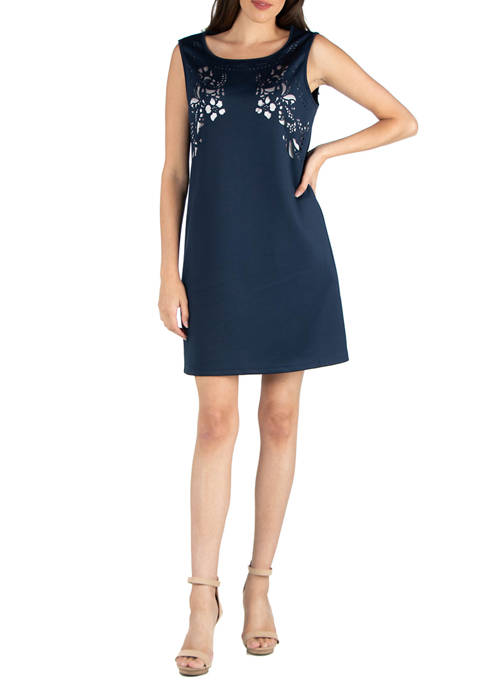 Womens Sleeveless Shift Dress
