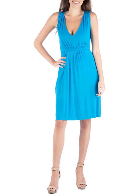 24seven Comfort Apparel Womens Sleeveless Cocktail Dress