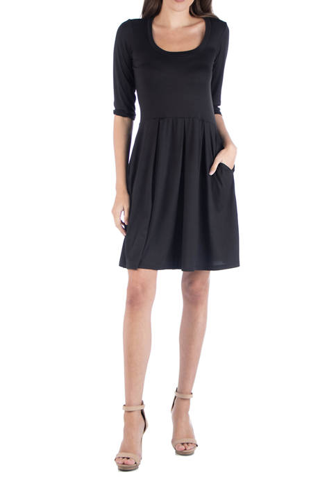 24seven Comfort Apparel Womens Fit and Flare Mini