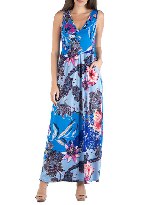 Womens Floral Sleeveless Dress