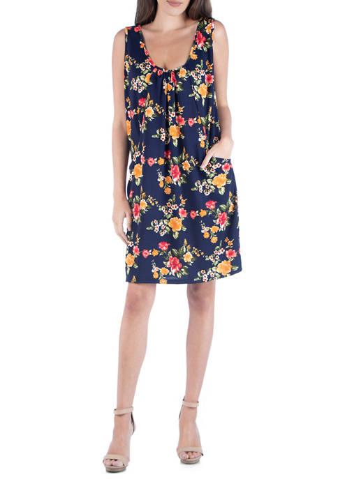 24seven Comfort Apparel Womens Floral Mini Dress