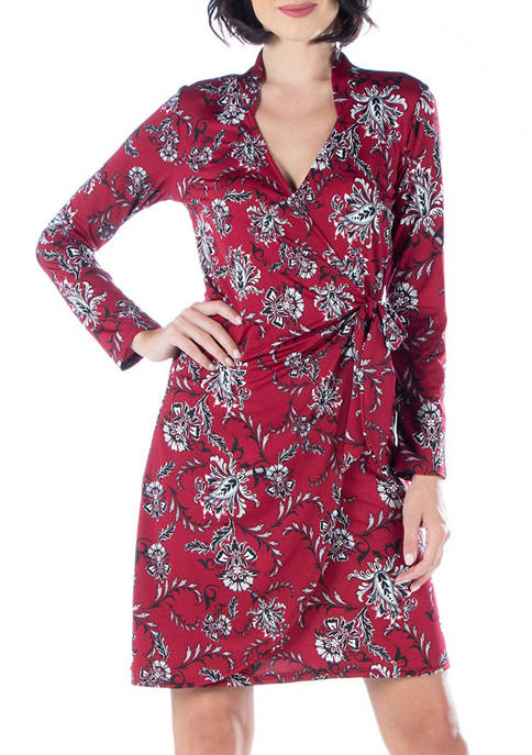 24seven Comfort Apparel Womens Long Sleeve Maxi Dress
