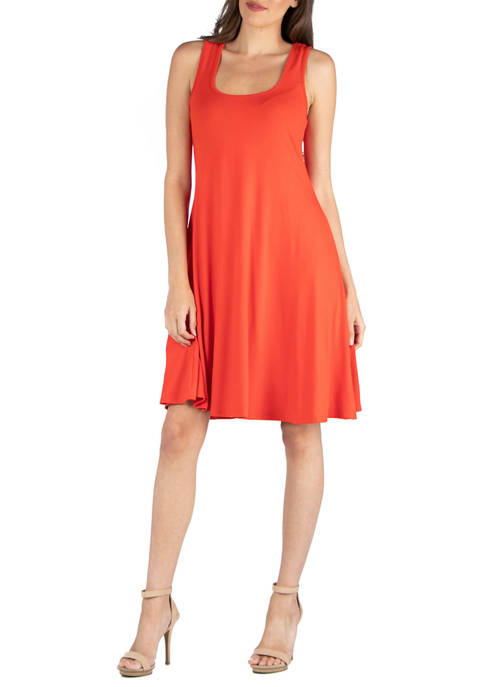 Womens A Line Fit and Flare Dress
