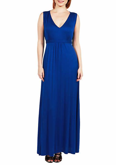 Sleeveless Empire Waist Maxi Dress