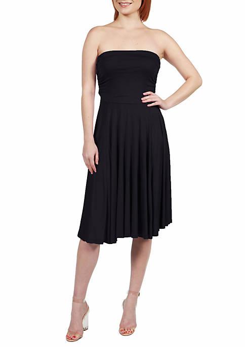 Pleated Strapless Summer Dress