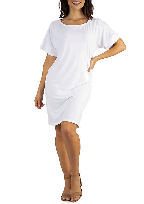 24seven Comfort Apparel Loose Fitting T Shirt Dress