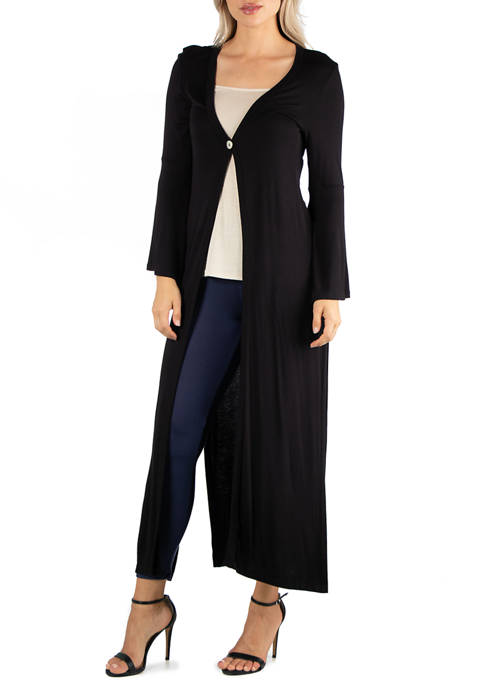 24seven Comfort Apparel Womens Long Sleeve Maxi Length