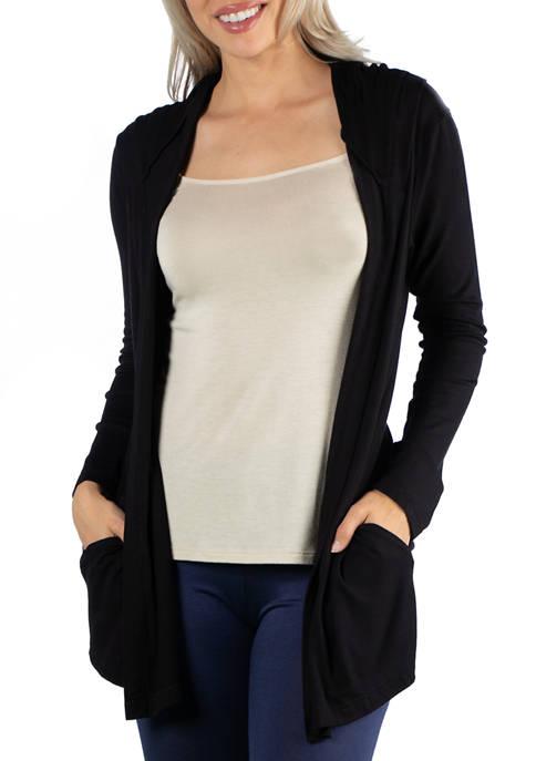 24seven Comfort Apparel Womens Long Sleeve Pocket Hoodie