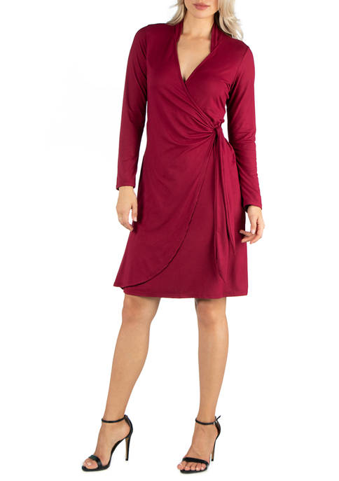 24seven Comfort Apparel Womens Knee Length Long Sleeve