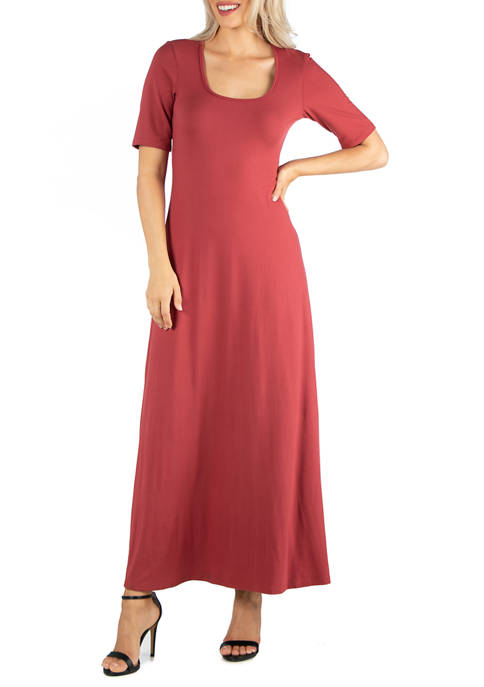 24seven Comfort Apparel Womens Casual Maxi Dress with