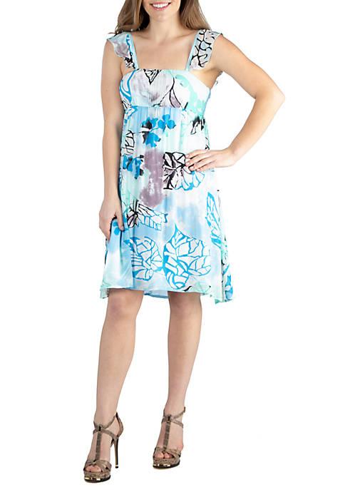 24seven Comfort Apparel Sleeveless Flowy Summer Dress