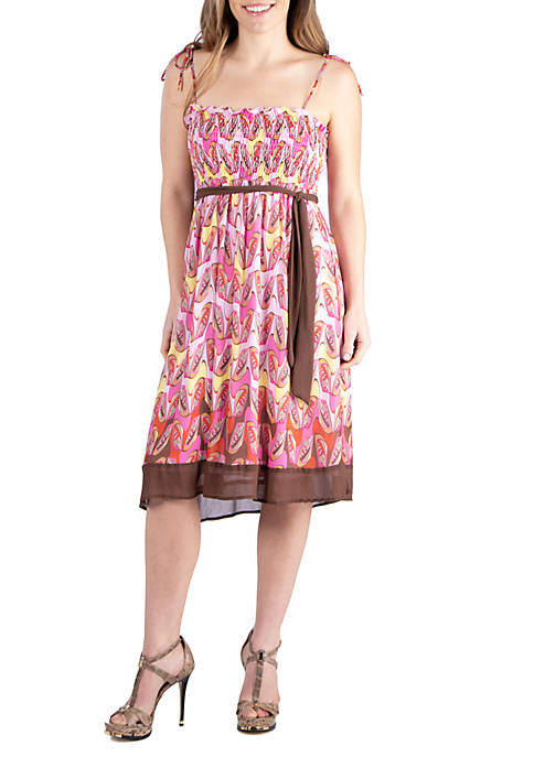 Flowy Pink Sleeveless Dress