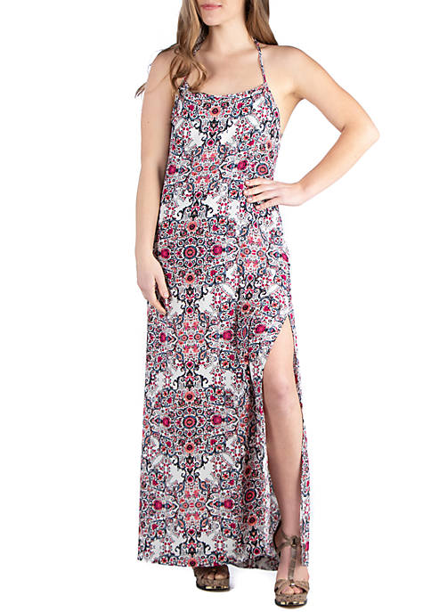 24seven Comfort Apparel Low T Back Maxi Dress