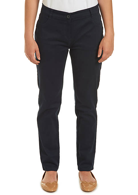 Nautica Uniforms Juniors Sateen Skinny Pants