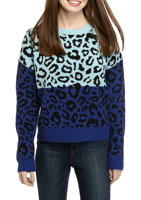Blush & Bloom Juniors Crew Neck Animal Color