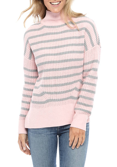 Crown & Ivy™ Womens Long Sleeve Turtleneck Sweater