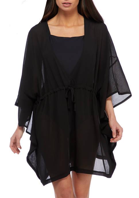 Kimono Sleeve Chiffon Swim Cover Up