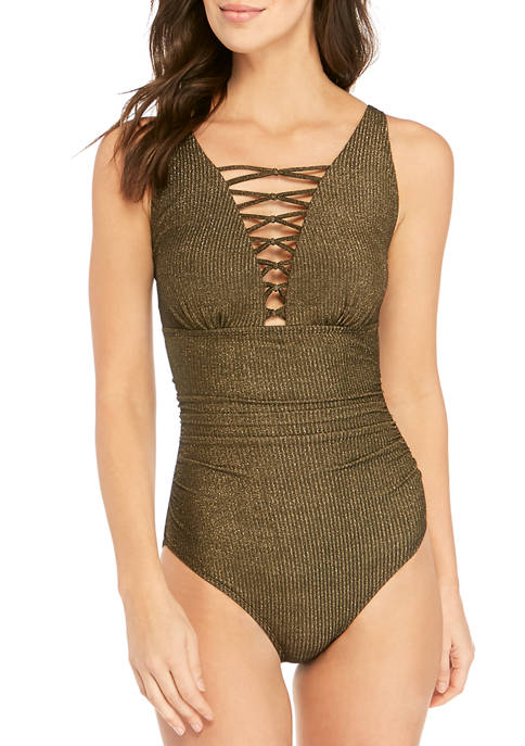 Lurex® Rib One Piece Swimsuit