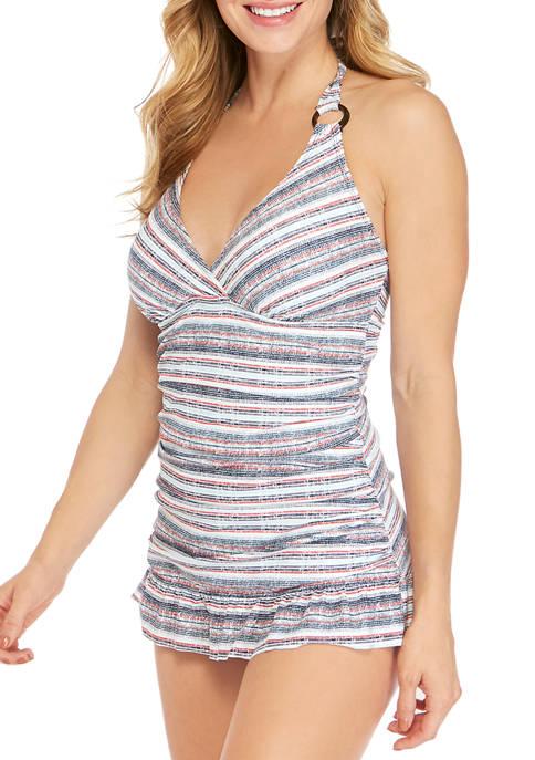 New Directions® Laguna Stripe Swim Dress