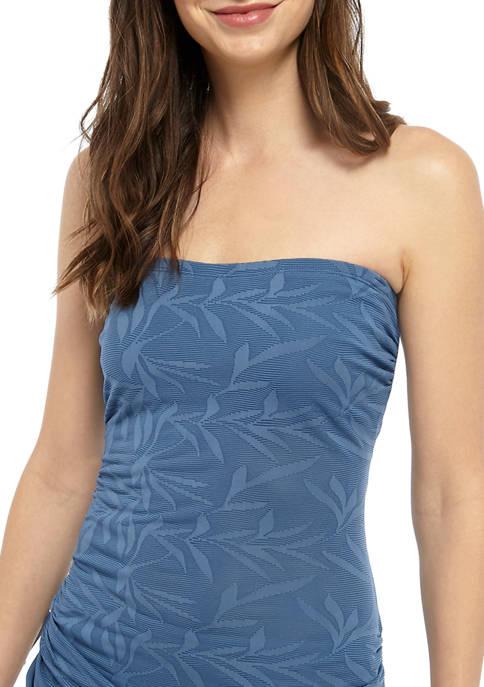 New Directions® Shadow Leaf Tankini Swim Top