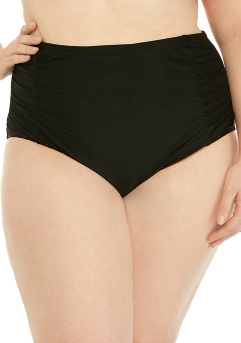 Plus Size High Waist Swim Bottoms