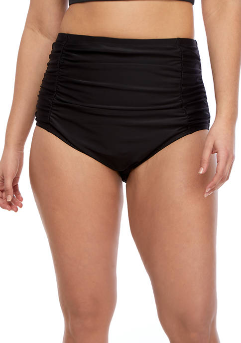 New Directions® Plus Size High Waist Swim Bottoms