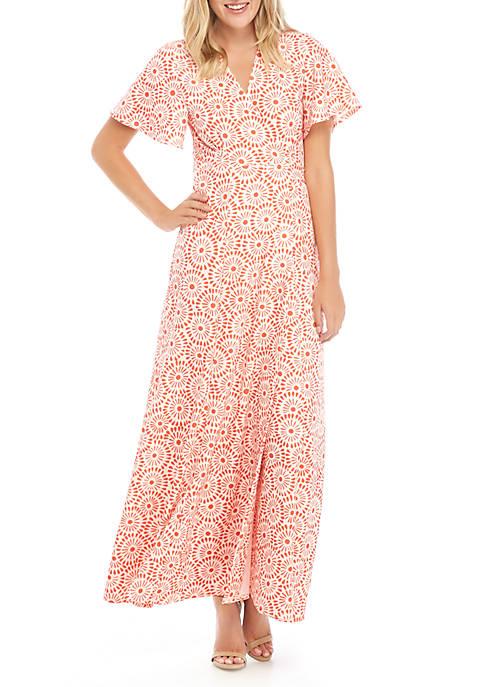 Dolman Sleeve Scuba Crepe Maxi Dress