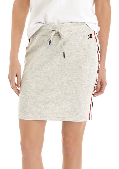 Mesh Tape Logo Skirt