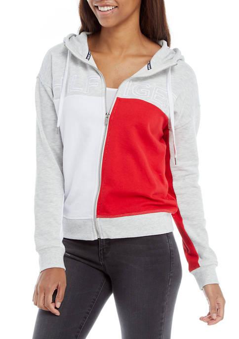 Tommy Hilfiger Sport Womens Color Block Zip Up