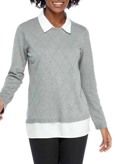 Womens 2Fer Sweater