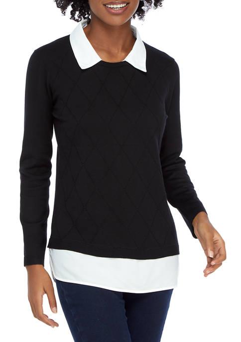Kim Rogers® Womens 2Fer Sweater