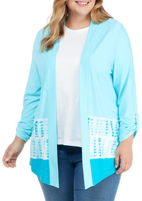 Kim Rogers® Plus Size Roll Tab Tie Dye