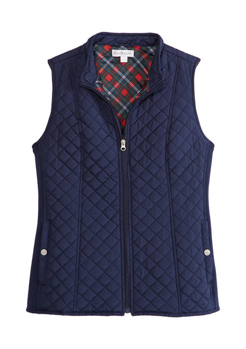 Petite Side Rib Quilted Vest