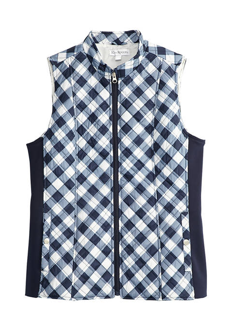Kim Rogers® Petite Side Rib Quilted Vest