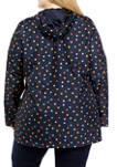 Plus Size Printed Anorak Jacket
