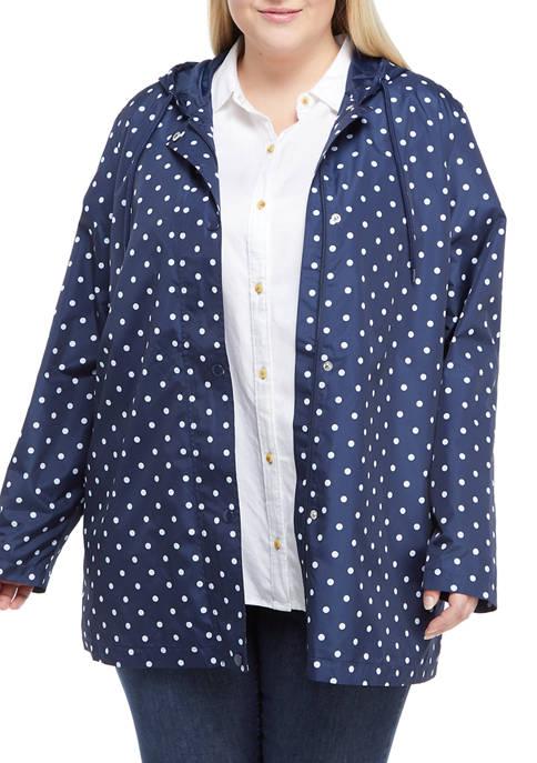 Kim Rogers® Plus Size Printed Anorak Jacket
