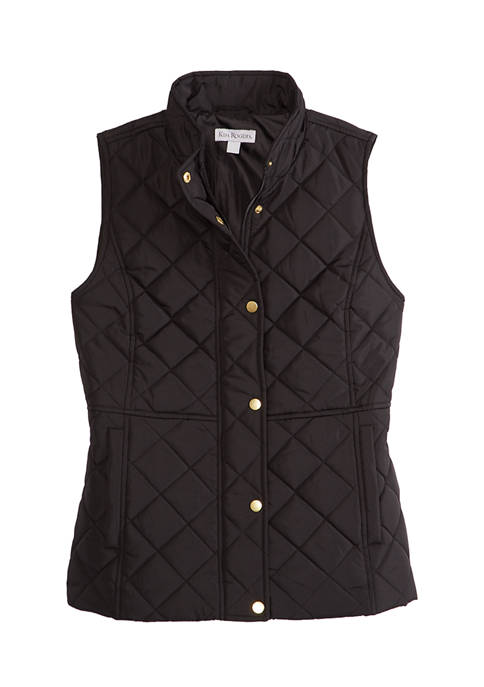 Womens Solid Puffer Vest